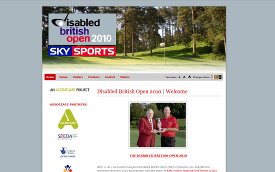 Disabled British Open Site Redesign Project