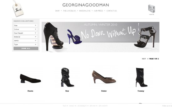 Georgina Goodman Shoes Website Redesign